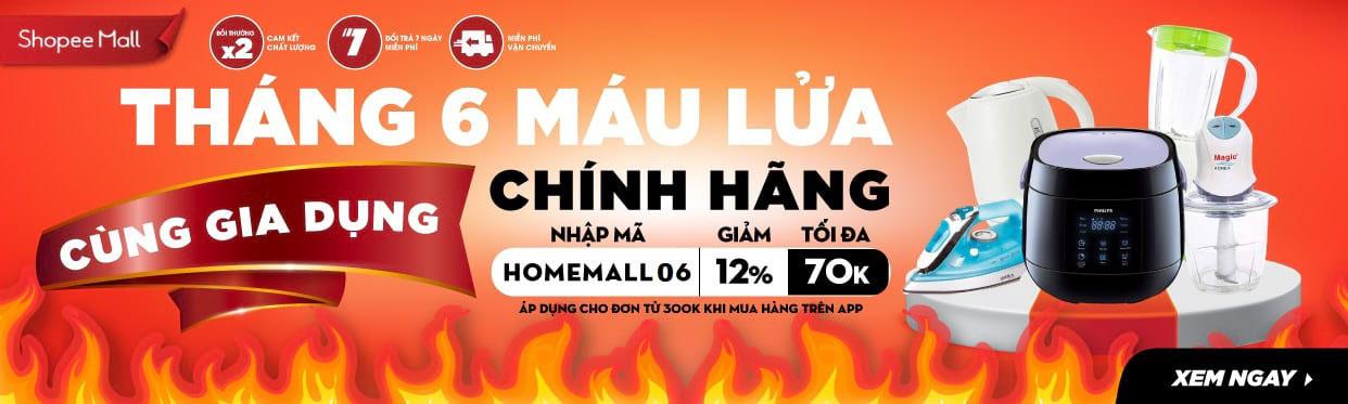 Tháng 6 máu lửa cùng Mã giảm giá Thiết bị điện Shopee Mall Săn Hàng Rẻ