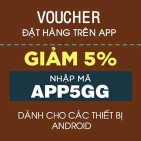 Mã giảm giá APP5GG mua hàng trên App SanHangRe
