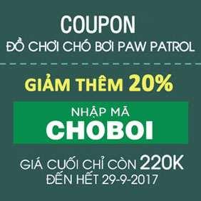 Mã giảm giá 20& Bộ đồ chơi Chó bơi Paw Patrol