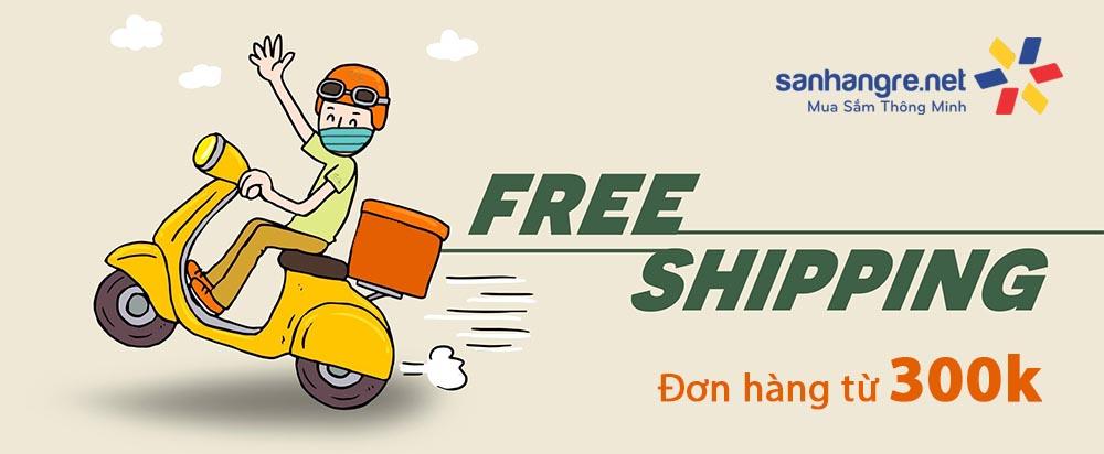 Miễn phí Vận chuyển đơn hàng từ 300k nội thành Hà nội, Hải phòng