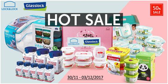 Sản phẩm Lock&lock và Glasslock siêu Sales lên tới 50%