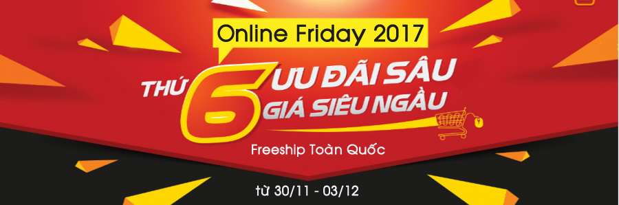online friday 2017 - freeship toan quoc