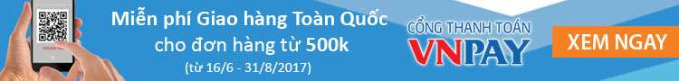 Miễn phí vận chuyển Toàn Quốc cho đơn từ 500k thanh toán qua cổng Vnpay