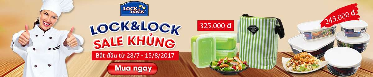 Lock&lock Sales khủng Tháng 8/2017