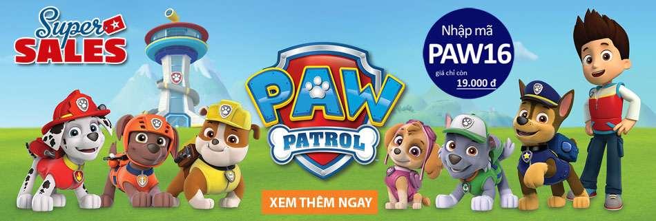 Đồ chơi chó Paw Patrol giảm giá Super Sales