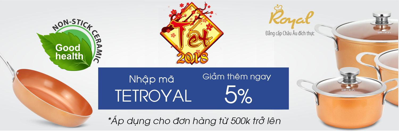 Giảm 5% cho đồ gia dụng elmich royal mã giảm giá TETROYAL
