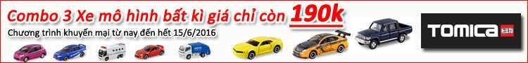 Combo 3 xe mô hình bất kì Tomica giá chỉ 190k