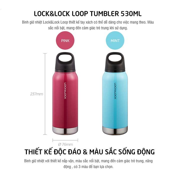 Bình Giữ Nhiệt Lock&Lock Loop Tumbler 530ml LHC4153MIT