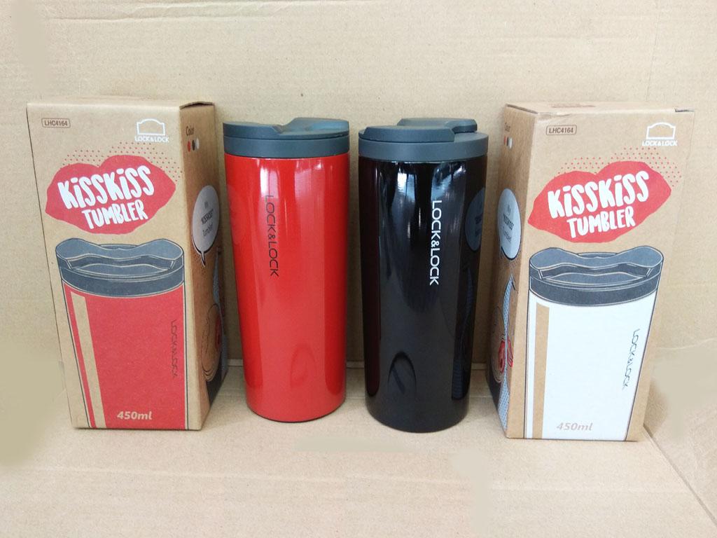 Bình Giữ Nhiệt Lock&Lock Hot&Cool KissKiss Tumbler 450ml Màu Đỏ