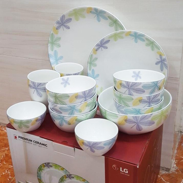 Bộ Gốm Sứ Cao Cấp Dong Hwa Premium Ceramic 13 Món Hàn Quốc