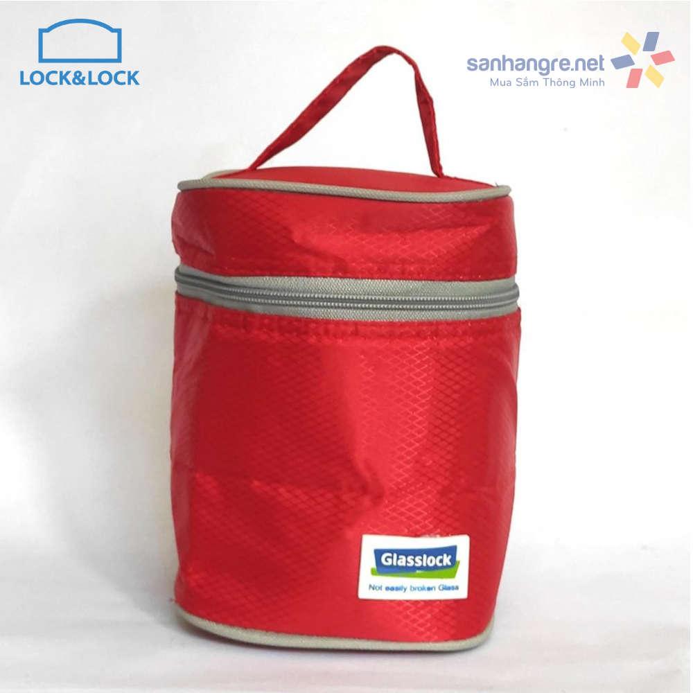 Bộ túi giữ nhiệt Glasslock 3 hộp đựng thực phẩm Lock&Lock Oven Glass 380ml