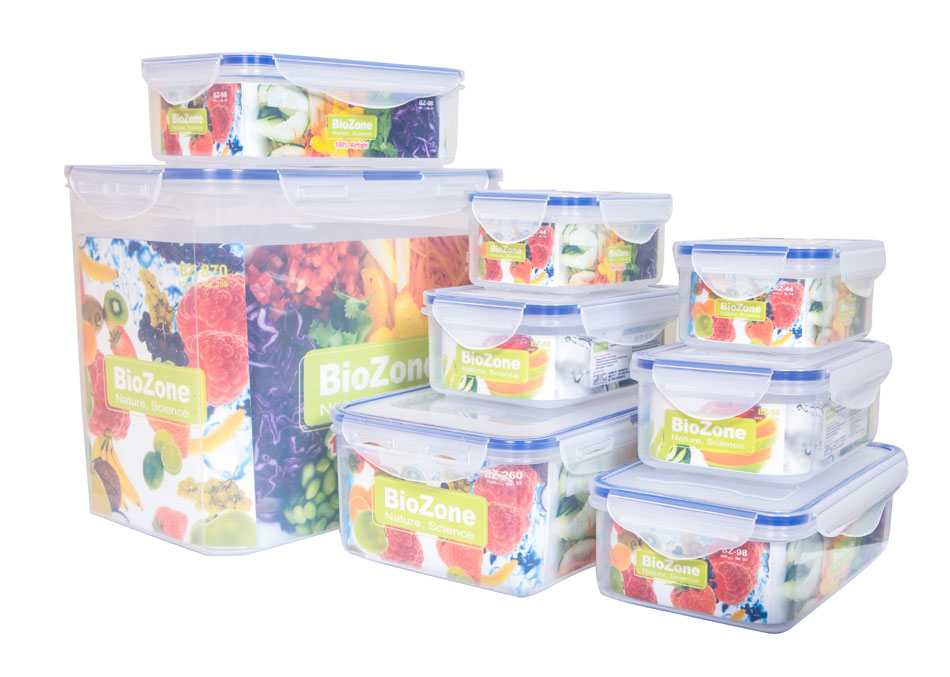 Bộ 8 hộp nhựa đựng thực phẩm BioZone BZ-8