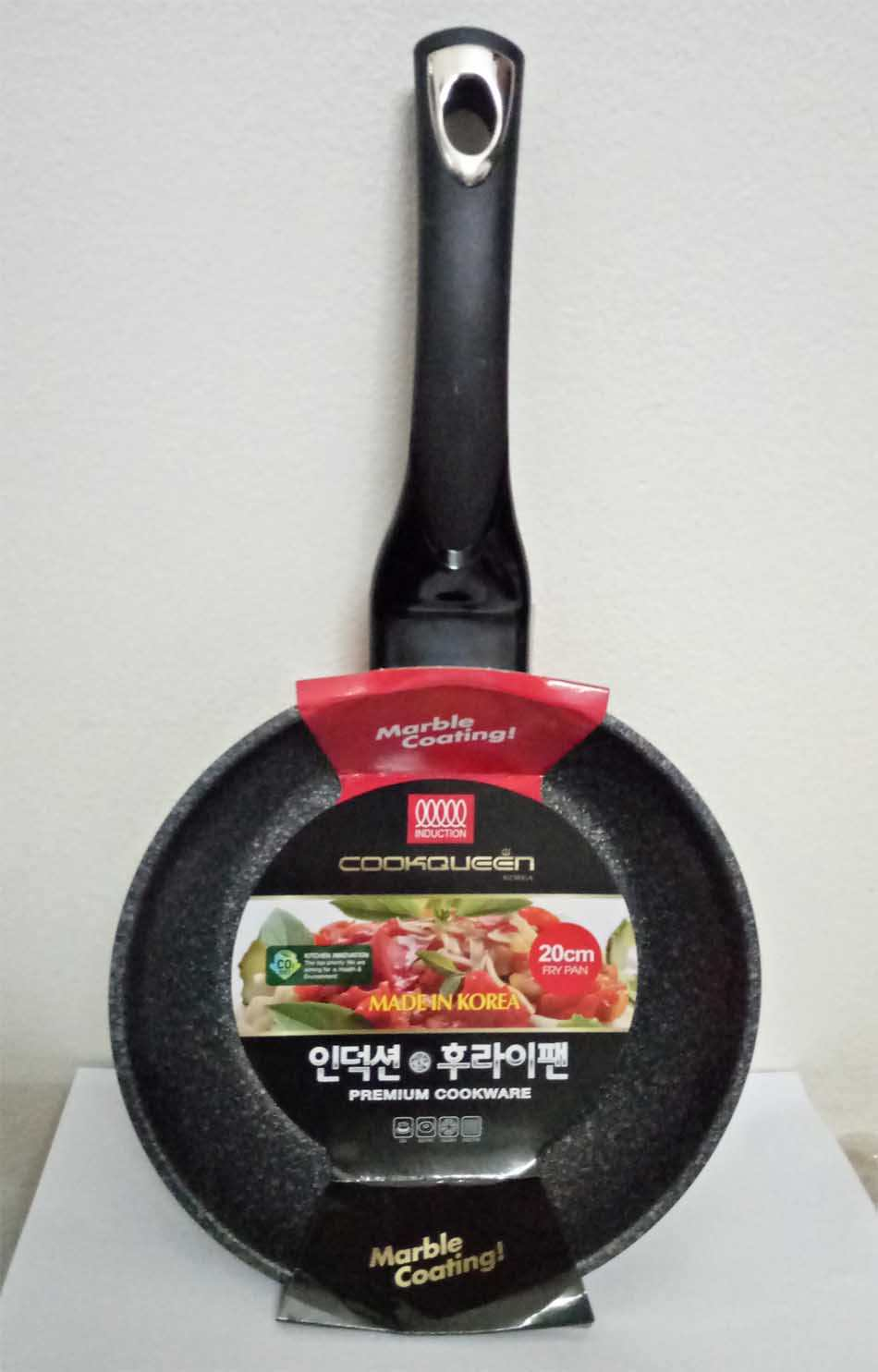 Chảo vân đá chống dính 24cm Cookqueen Hàn Quốc dùng bếp từ