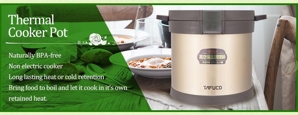 Nồi ủ nhiệt chân không đa năng Tafuco 4.5L hàng Nhật
