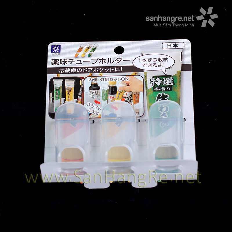 Bộ 3 ống cắm tuýp gia vị, thuốc đánh răng Niheshi 6225 hàng Nhật