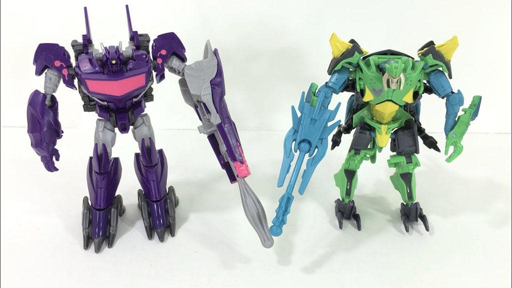 Bộ đôi Robot Transformer Beast Hunters Predacon Bombshock vs Shockwave