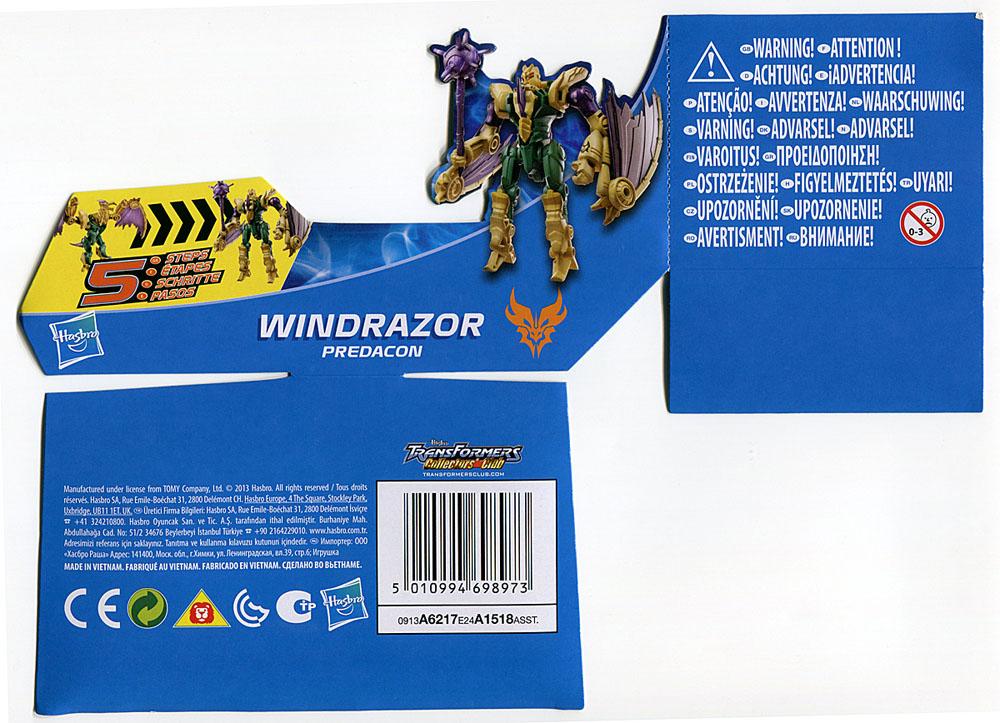 Đồ chơi Transformer - Robot biến hình Beast Hunters windrazor Predacon