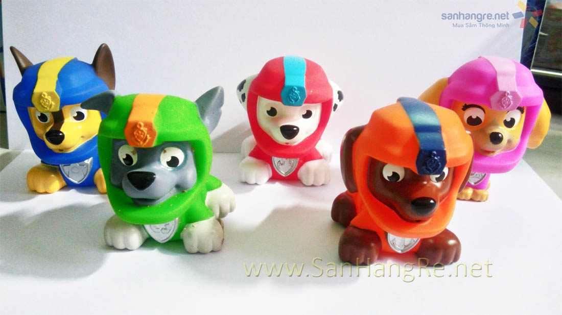 Bộ 5 chó bơi phun nước Paw Patrol - Đội phi hành gia