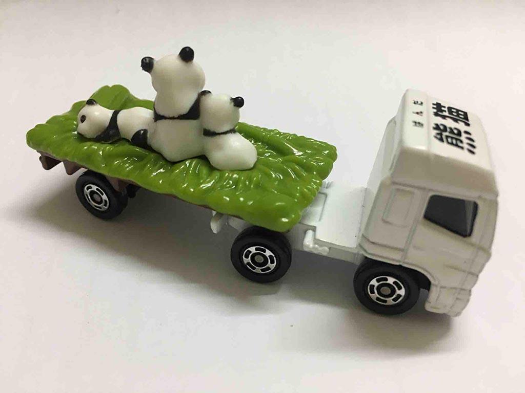 Xe tải mô hình Tomica Hino Profia chở Gấu trúc Panda (hàng no Box)