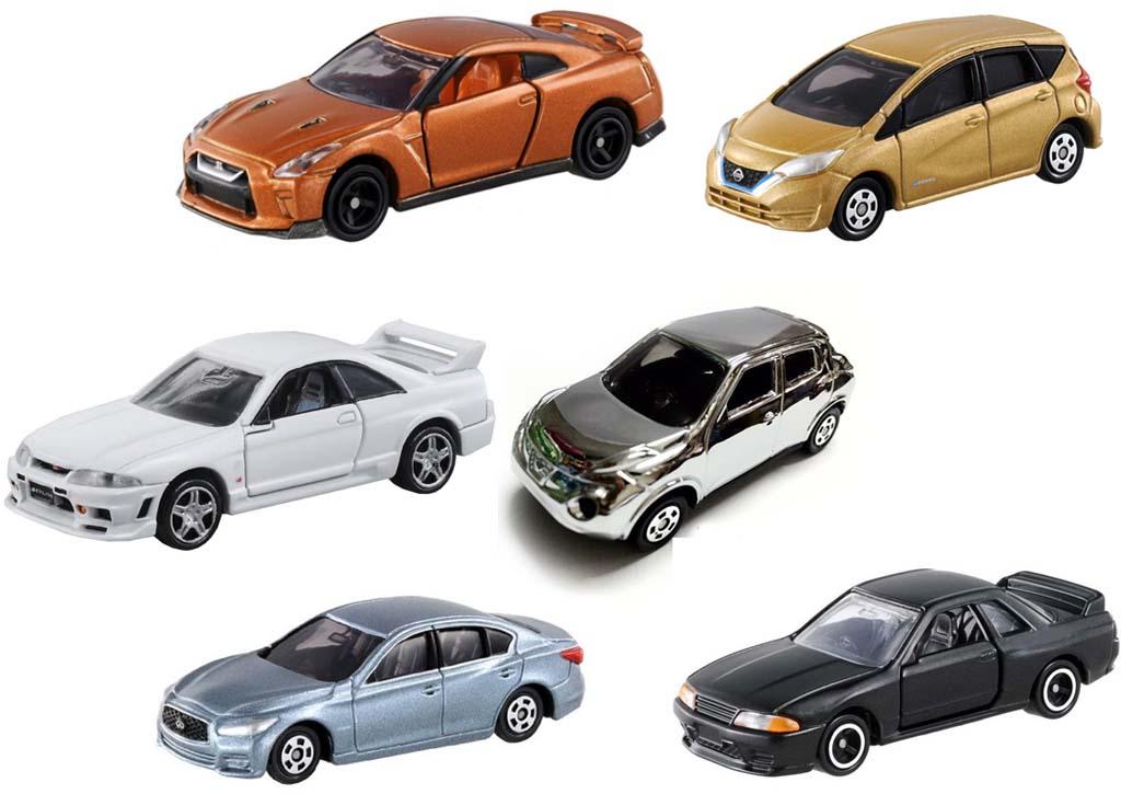 Bộ 6 xe ô tô mô hình Tomica Nissan
