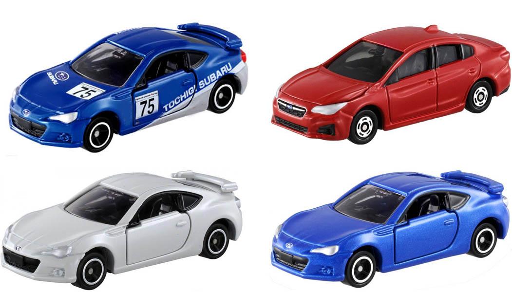 Bộ 4 xe ô tô mô hình Tomica Subaru