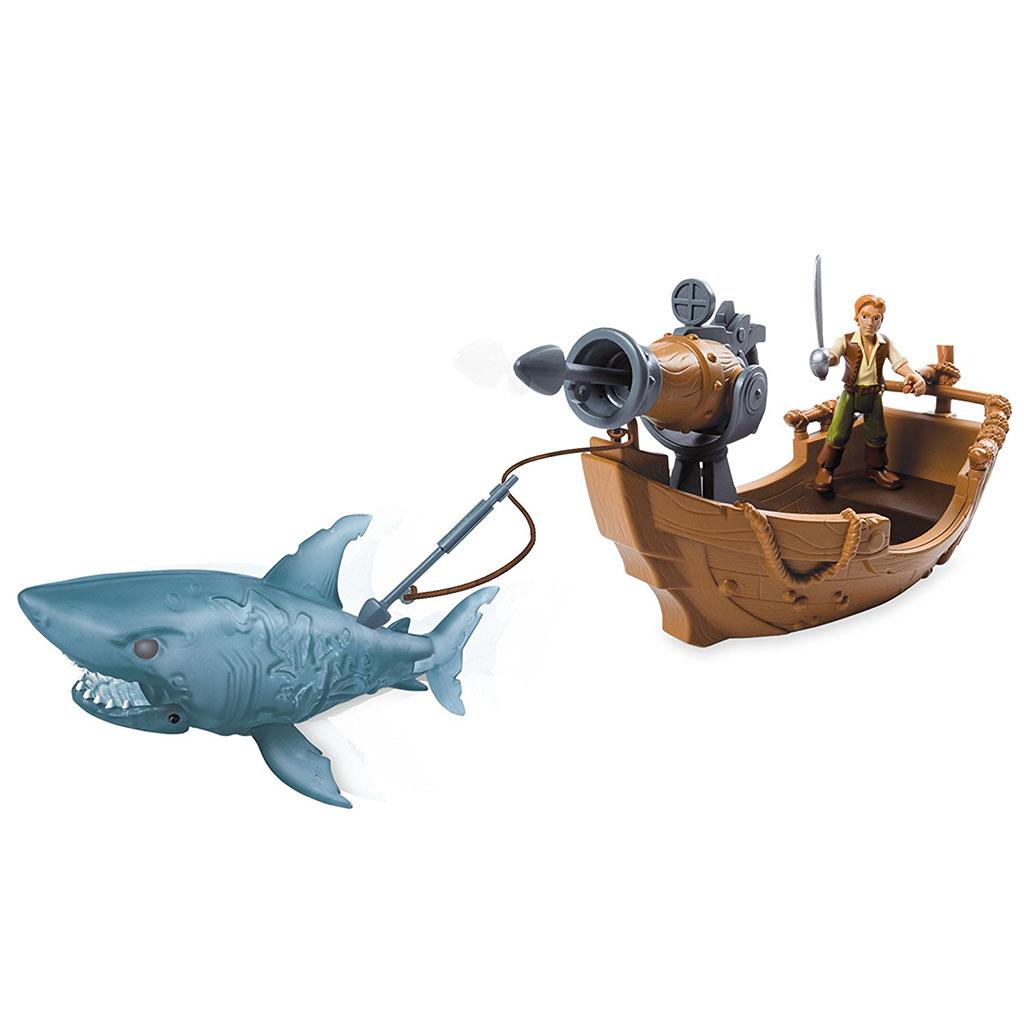 Đồ chơi Cướp biển Caribe : Thuyền, cá mập và Herry - Ghost Shark Attack