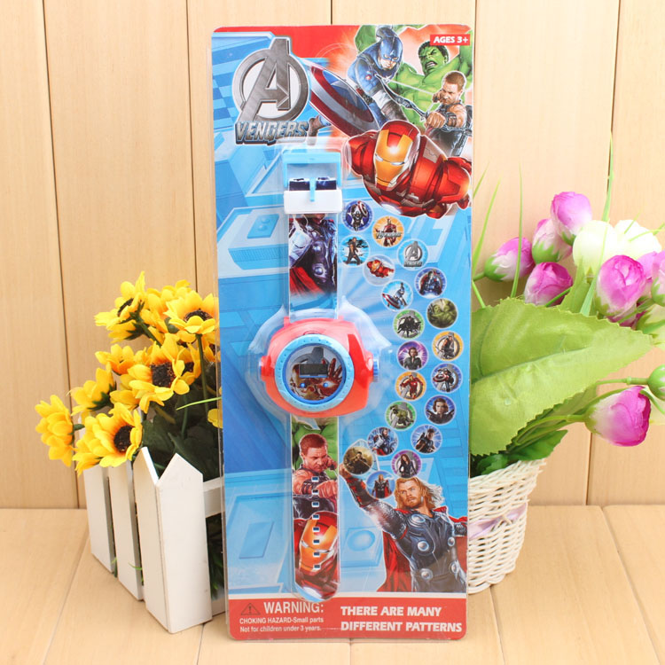 Đồng hồ điện tử đeo tay chiếu hình 3D WLT22B A Vengers