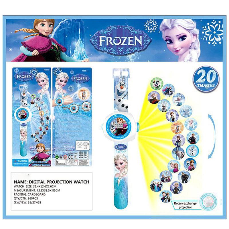Đồng hồ điện tử đeo tay chiếu hình 3D WLT22L Frozen