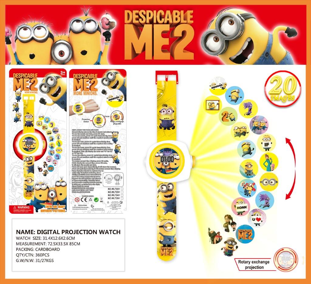 Đồng hồ điện tử đeo tay chiếu hình 3D WLT22L Minion Despicable Me 2
