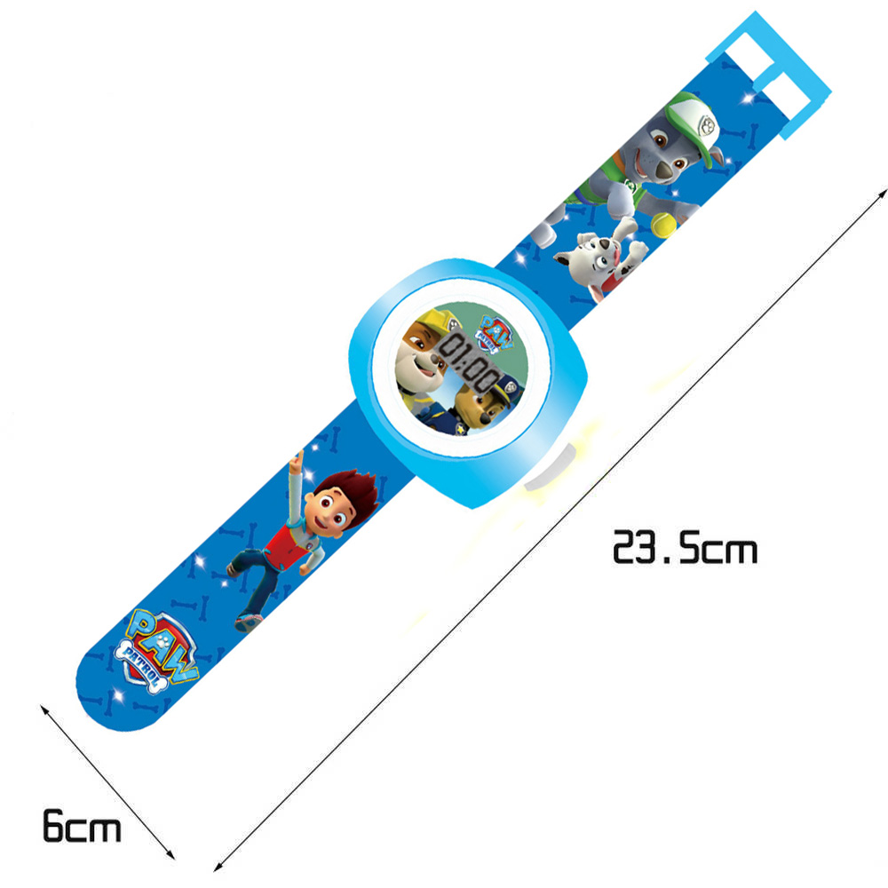 Đồng hồ điện tử đeo tay chiếu hình 3D WLT222 đội chó cứu hộ Paw Patrol