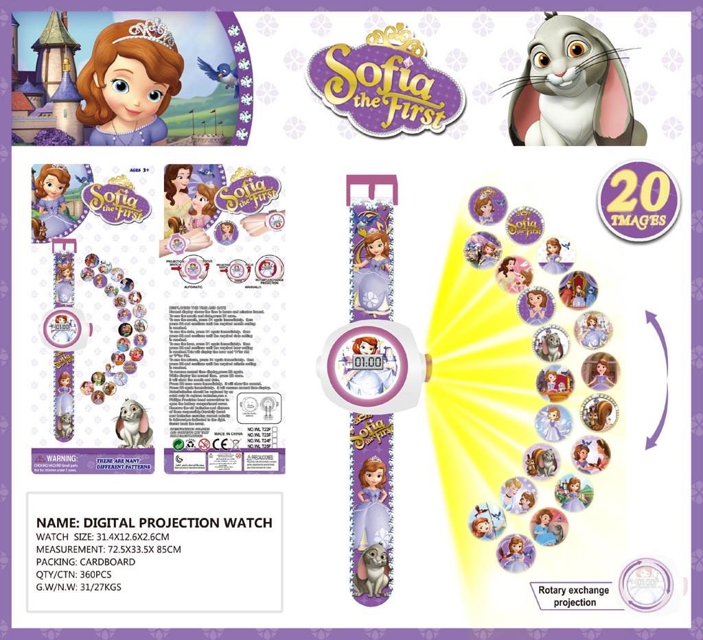 Đồng hồ điện tử đeo tay chiếu hình 3D WLT22F Công chúa Sofia