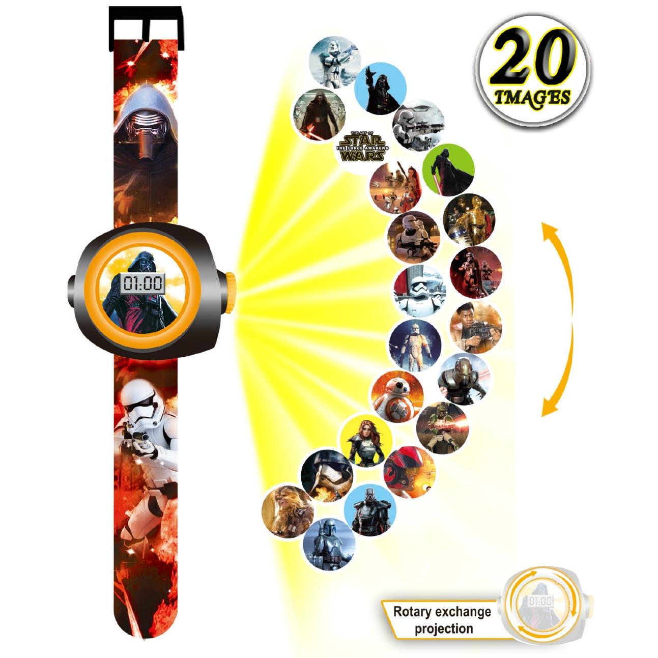 Đồng hồ điện tử đeo tay chiếu hình 3D WLT2218 Star War