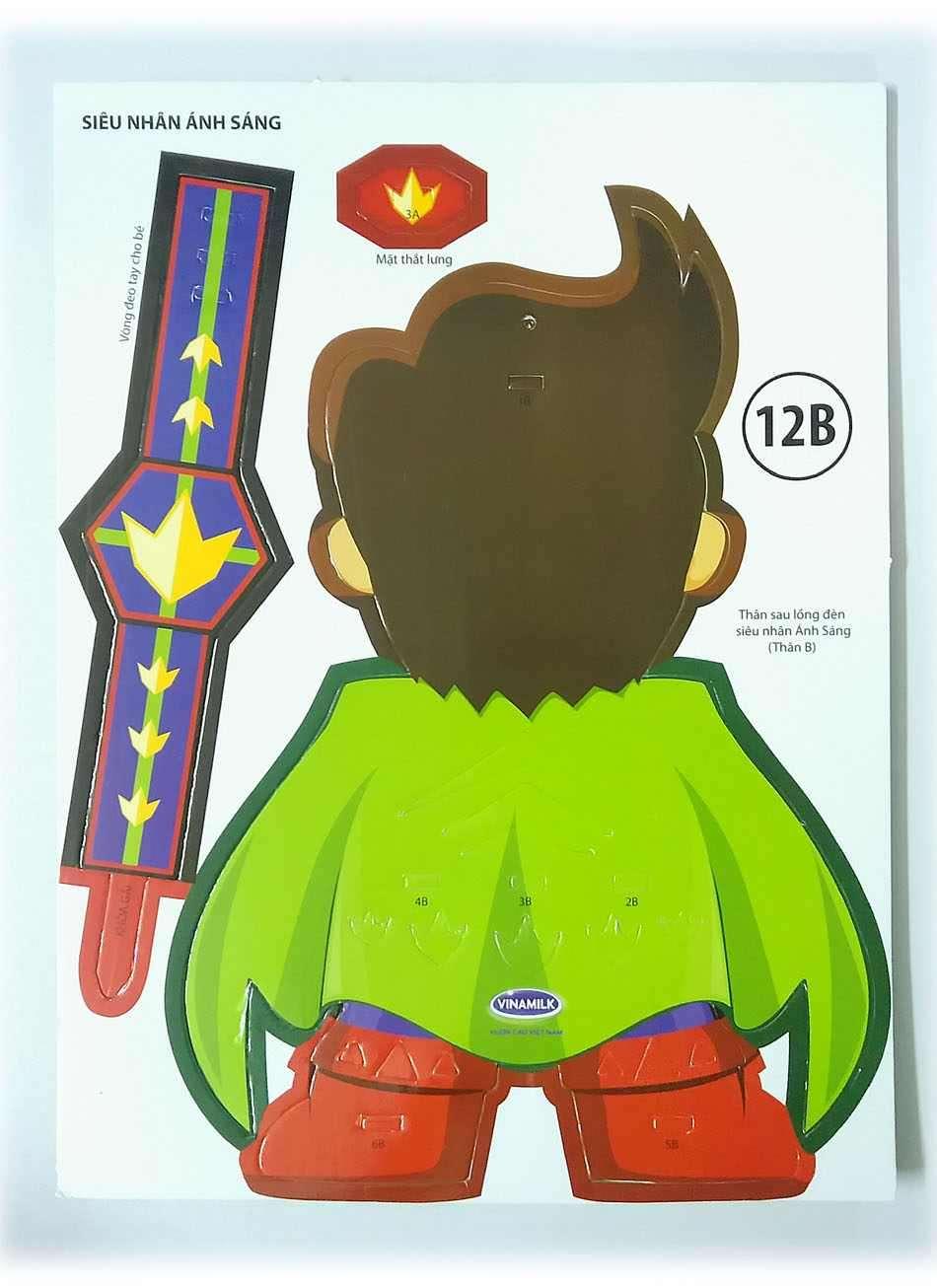 Bộ lồng đèn hóa trang Kibu 3 thứ lồng đèn, đồng hồ, kính Siêu nhân