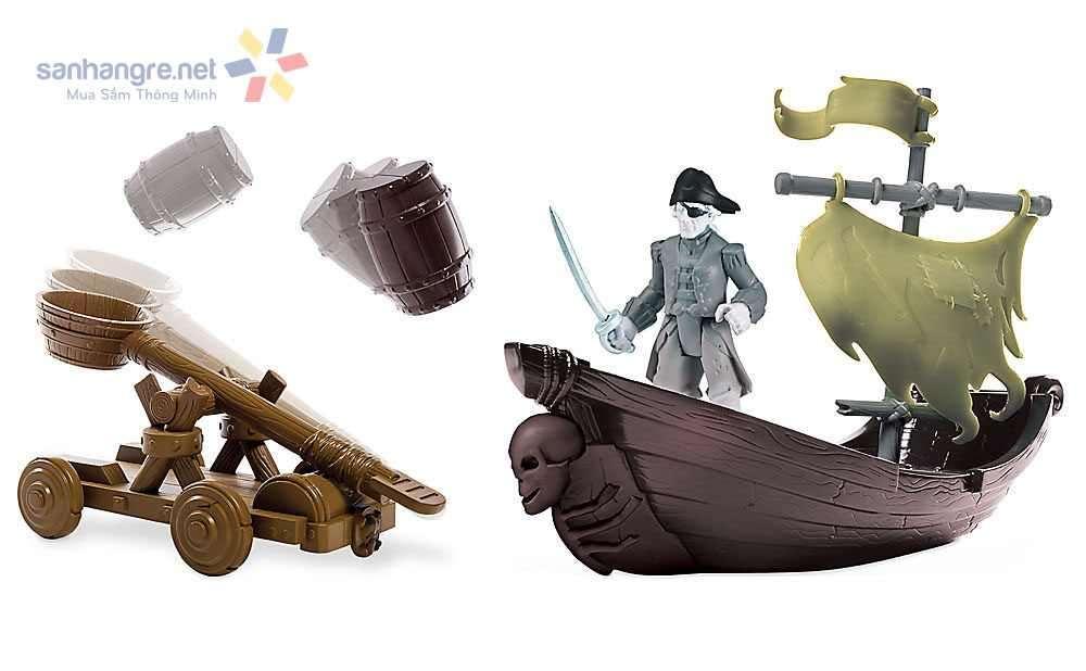 Đồ chơi thuyền và xe cướp biển Caribe