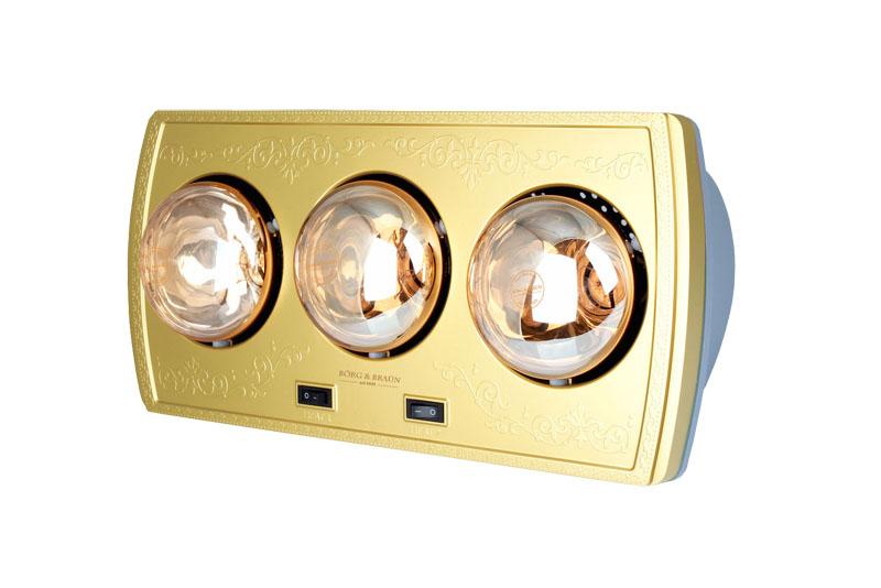 Đèn sưởi nhà tắm 3 bóng Borg BU03