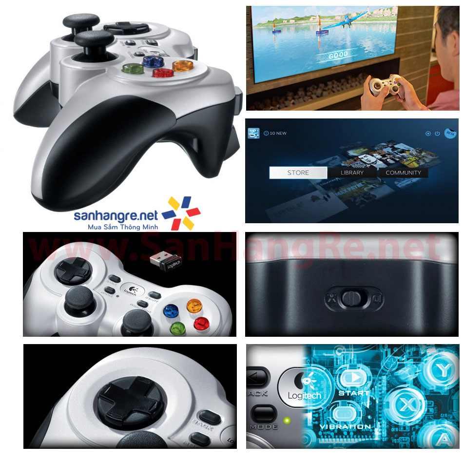 Tay cầm chơi game Logitech Wireless Gamepad F710