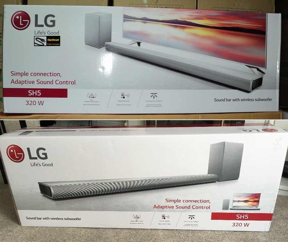 Dàn âm thanh loa thanh LG Sound Bar 2.1 SH5.DVNMLLK