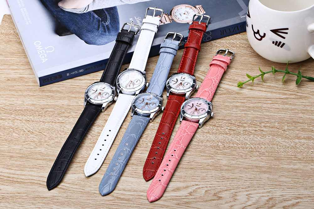 Đồng hồ dây da đeo tay Skmei 6911