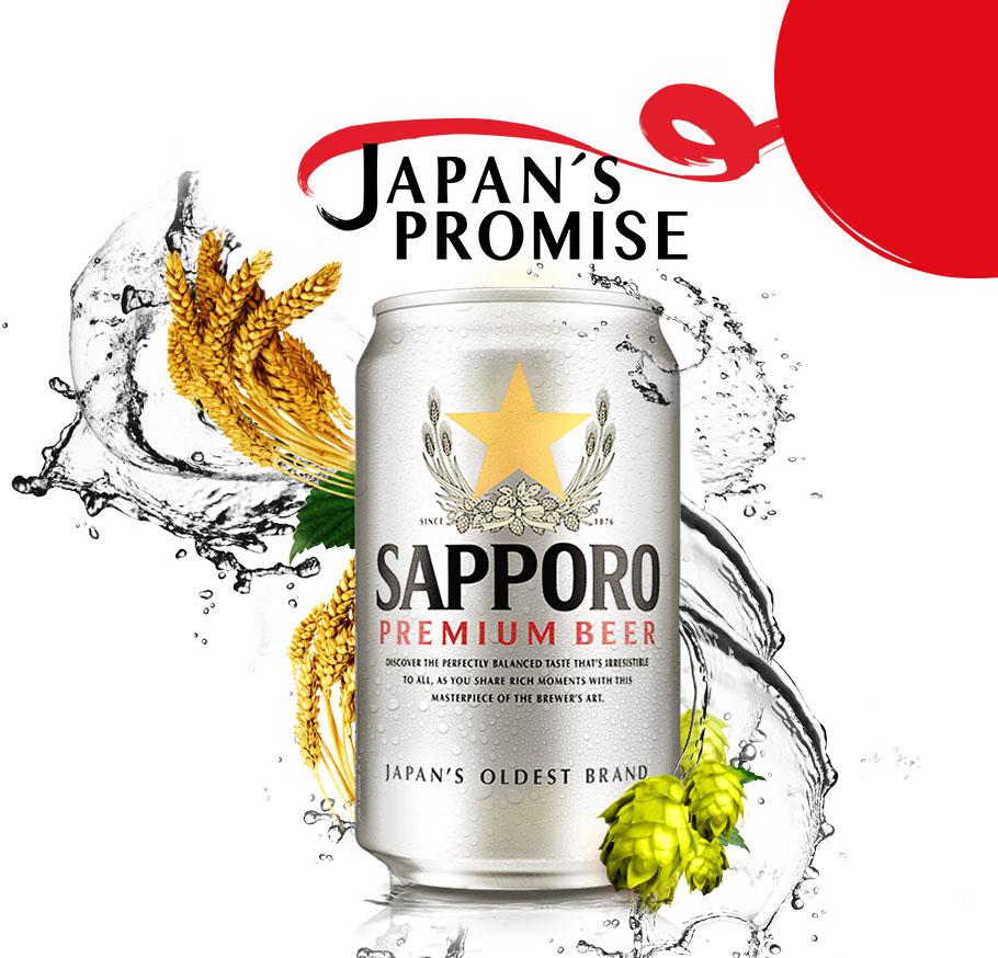 Bia Sapporo Premium Beer lon 330ml