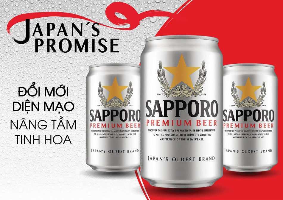 Bia Sapporo Premium Lon Bạc