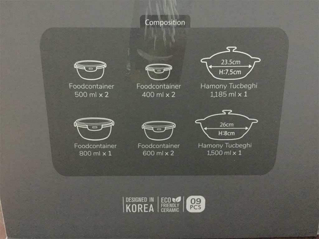 Bộ 2 nồi đất và 7 thố gốm sứ cao cấp Hoa Ly DongHwa Hàn Quốc LG CSB1505S9HE