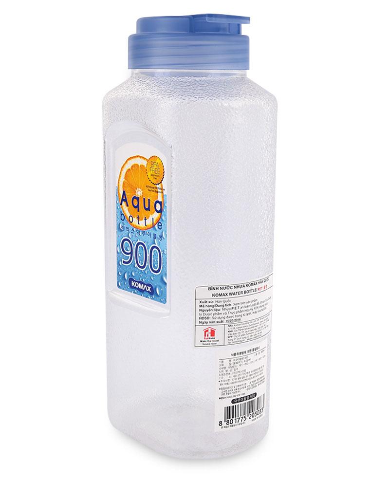 Bình nhựa đựng nước Aqua Komax Hàn Quốc 900ml