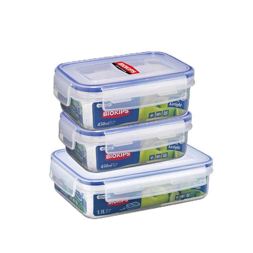 Bộ 3 hộp nhựa bảo quản thực phẩm Komax Biokips