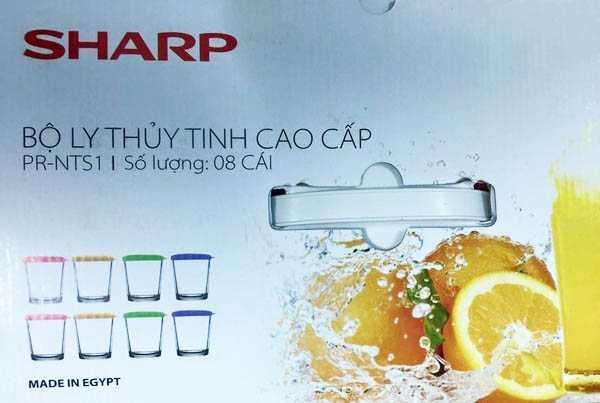 Bộ 8 cốc thủy tinh cao cấp có nắp Ai Cấp Sharp