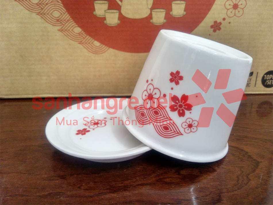 Bộ ấm trà hoa đào cao cấp Sharp PR-DHTEA1