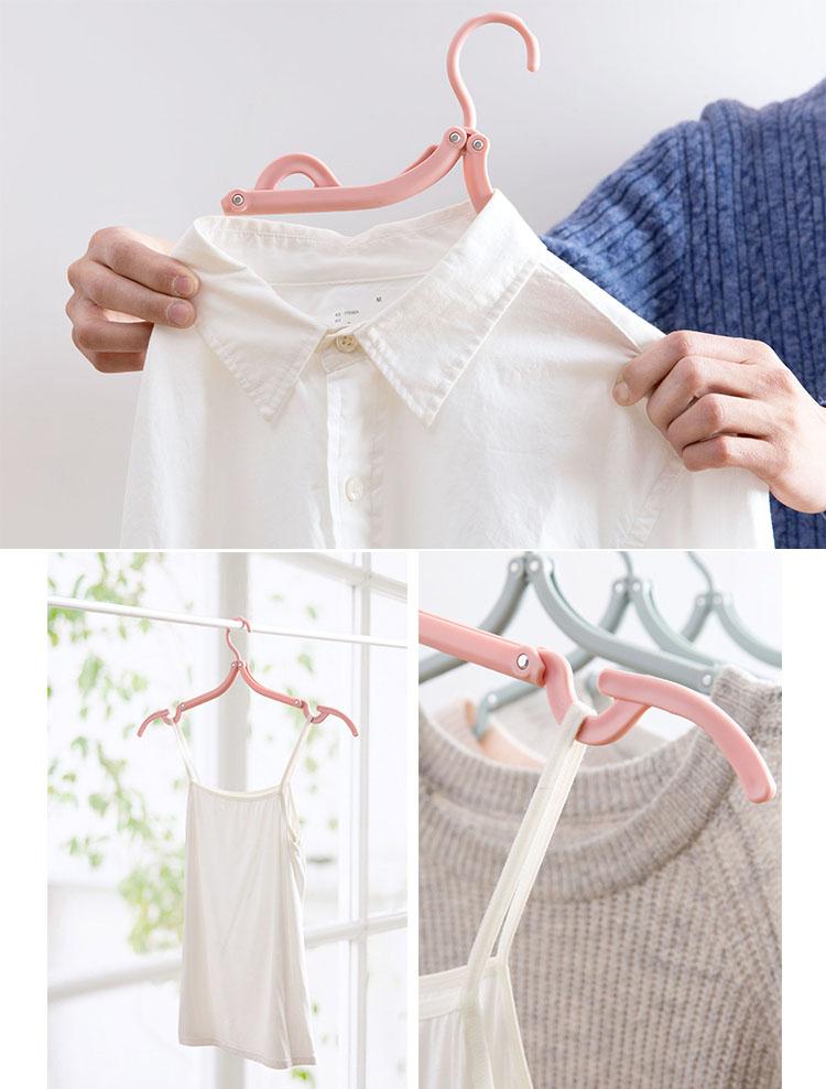 Bộ 5 mắc treo quần áo gấp gọn thông minh KM-60201 hàng Nhật