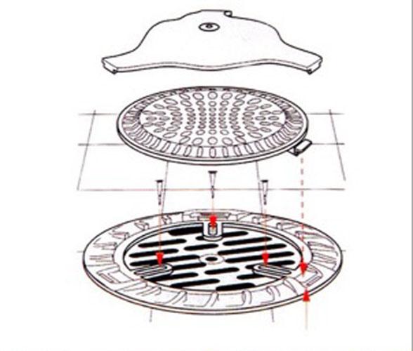 Nắp đậy lỗ thoát nước sàn nhà thông minh Niheshi 6199 hàng Nhật