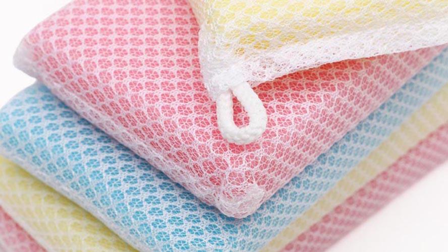 Bộ 6 mút lưới rửa chén tạo bọt kháng khuẩn Daiso C008-77 hàng Nhật