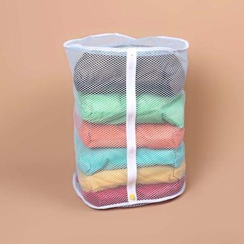 Túi lưới giặt đồ hình trụ Ø22x34 Daiso C029-119 hàng Nhật