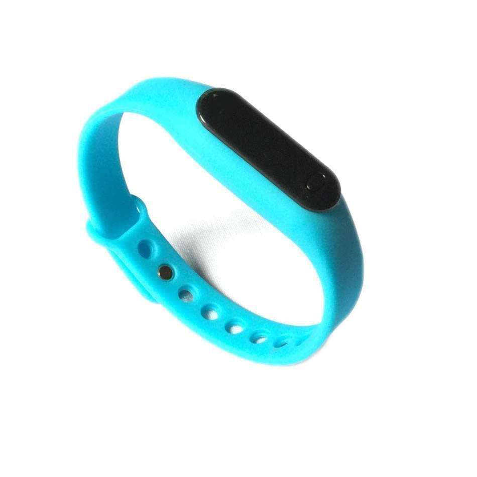Đồng hồ LED mặt kính mini dây Silicon kiêm vòng tay thời trang